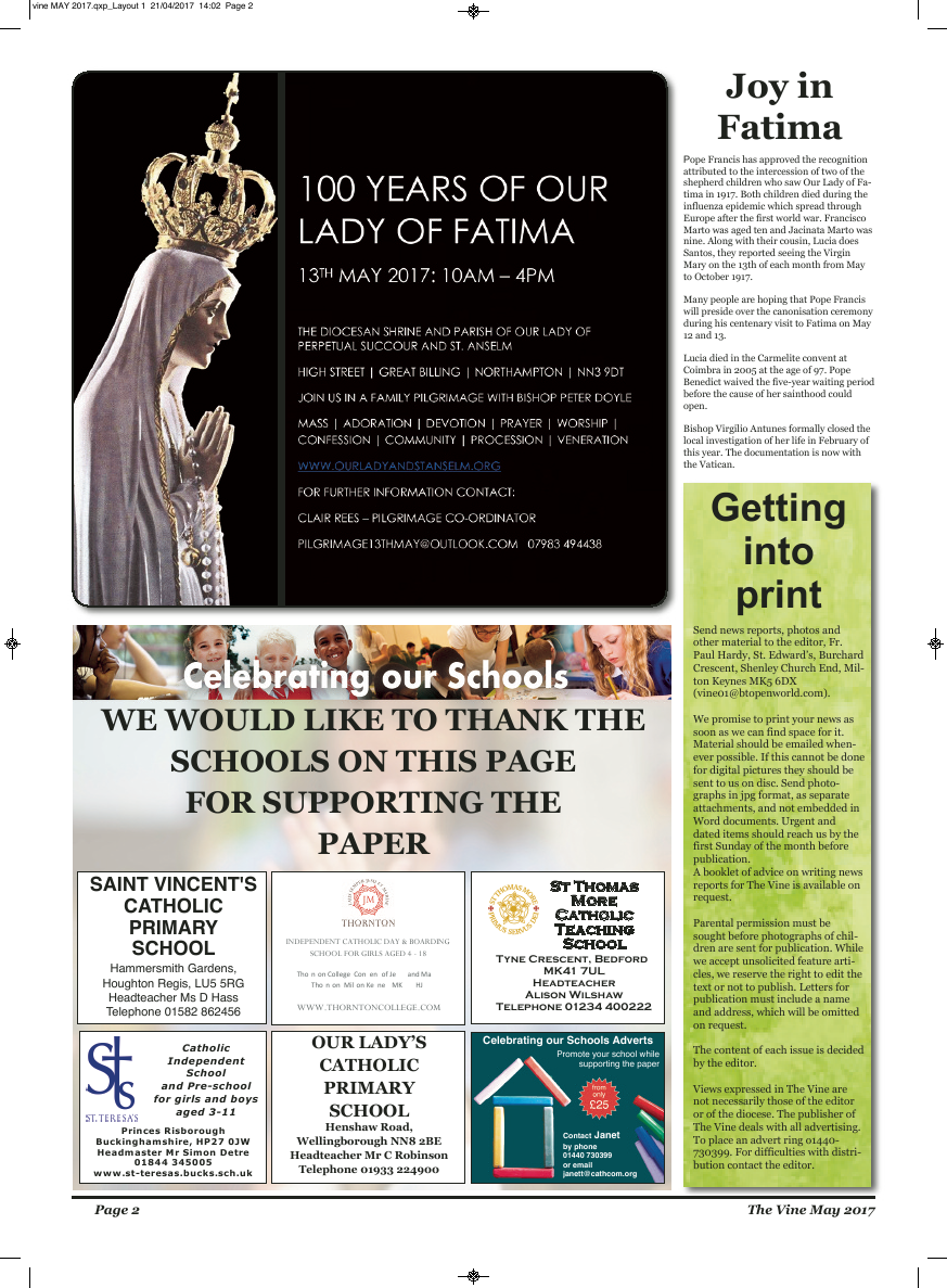 May 2017 edition of the The Vine - Northampton - Page