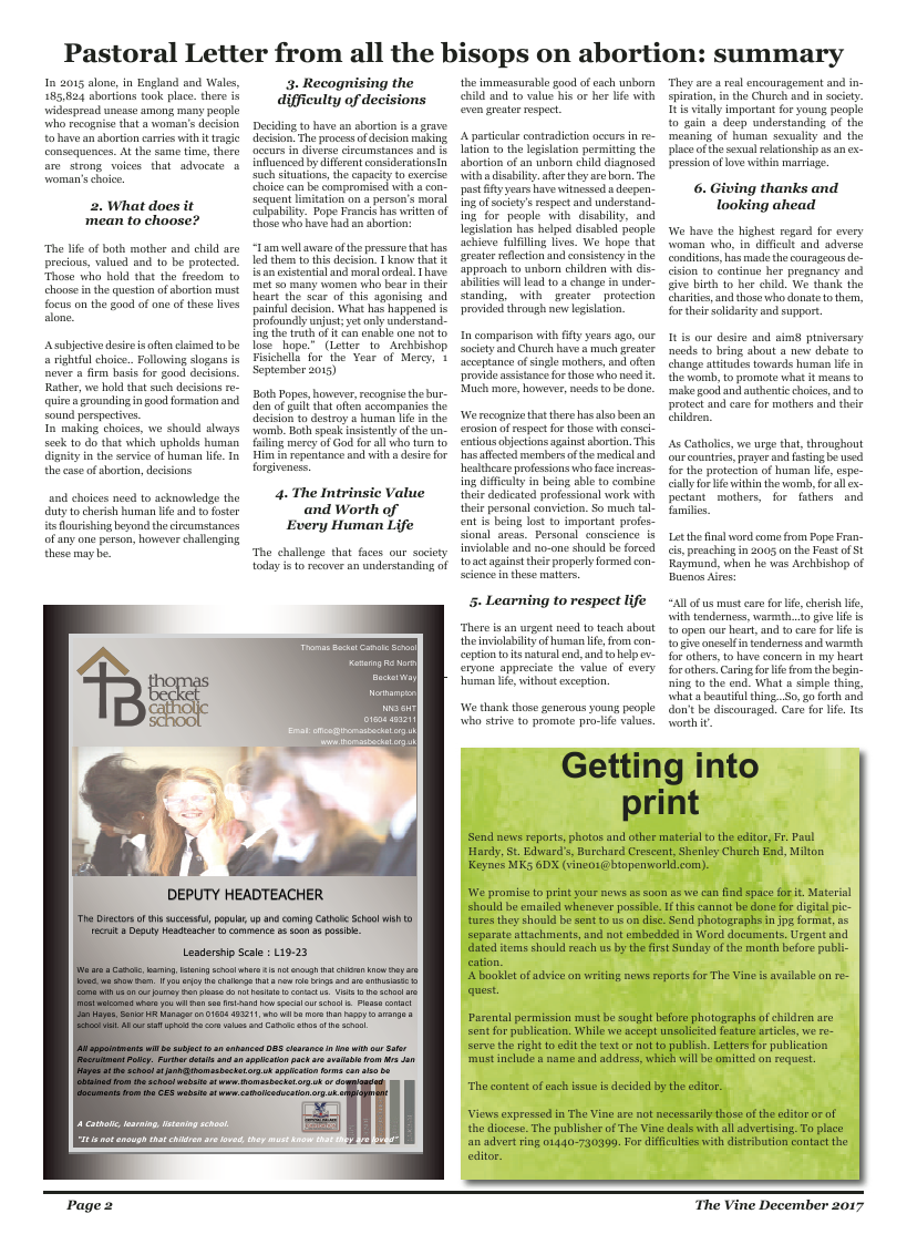 Dec 2017 edition of the The Vine - Northampton - Page