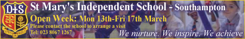 St Marys College Independent: St Mary`s Independent School - Southampton Open Week: Mon 13th-Fri 17th March Please contact the school to arrange a visit Tel: 023 8067 1267